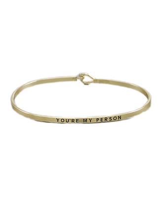 Golden Stella Bangle - You're My Person
