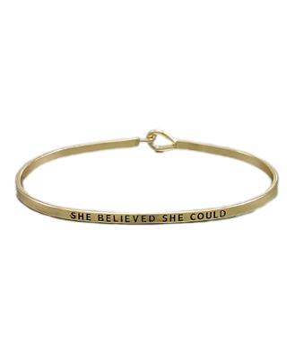 Golden Stella Bangle Gold She Believed She Could