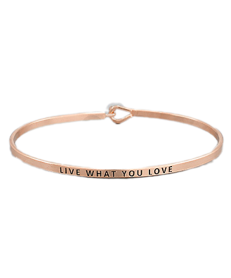 Golden Stella Bangle Rose Gold Live What you Love