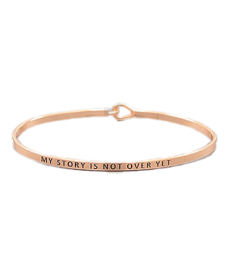Golden Stella Bangle Rose Gold My Story Is Not Over Yet