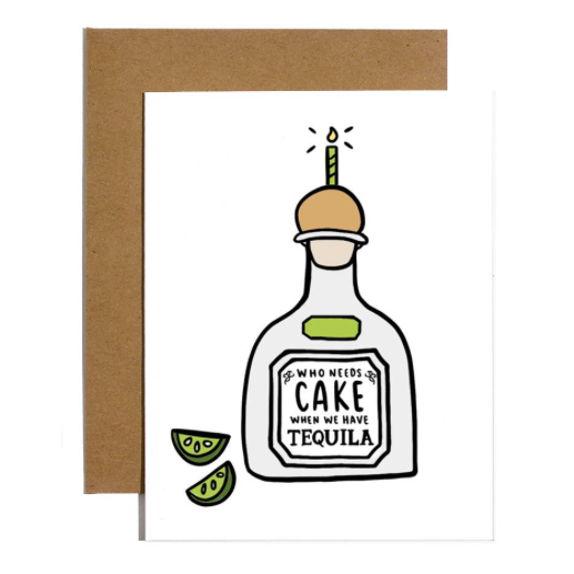 Brittany Paige Cake Tequila Card