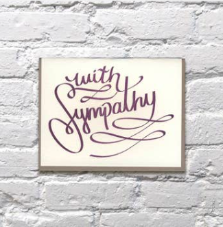 Bench Pressed Purple Script Sympathy Card