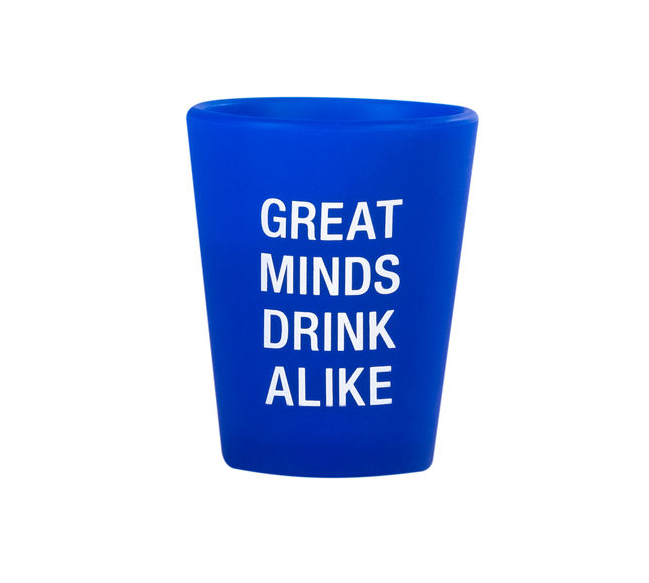About Face Designs Great Minds Silicone Shot Glass