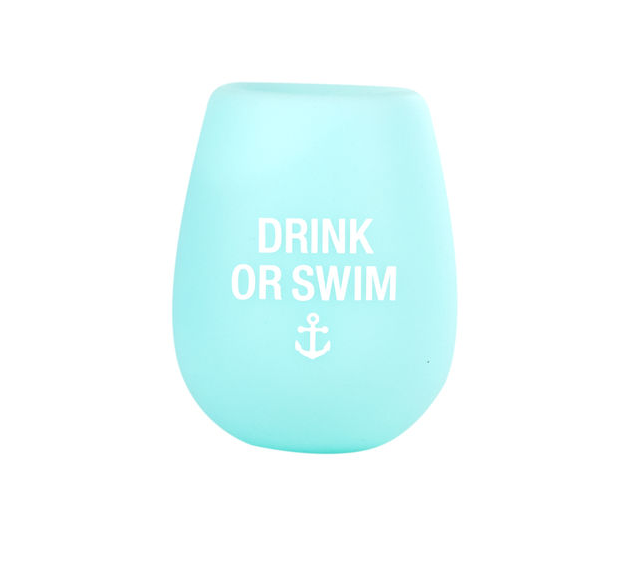 About Face Designs Drink or Swim Silicone Wine Glass