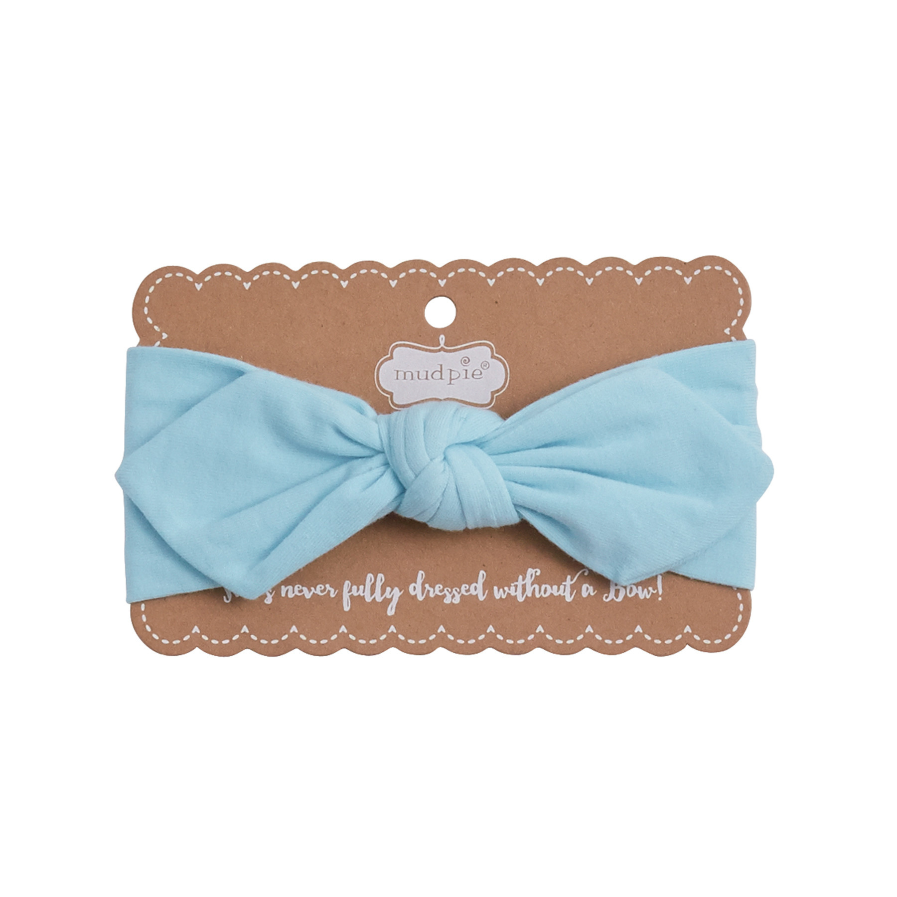 Mud Pie BLUE KNOTTED BOW HEADBAND