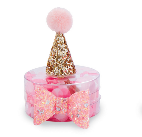 Mud Pie GOLD PARTY HAT AND BOW SET
