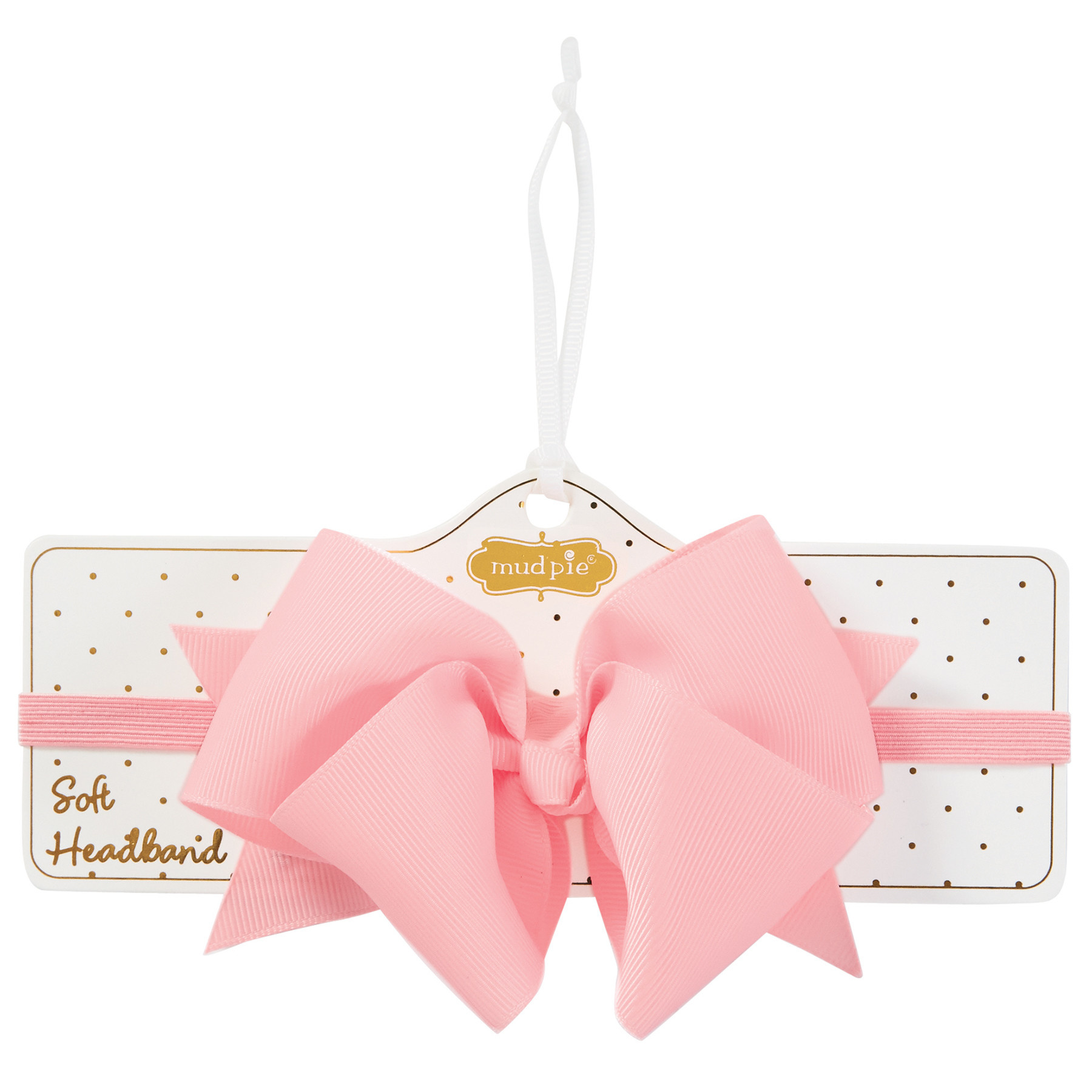 Mud Pie LIGHT PINK BOW SOFT HEADBAND