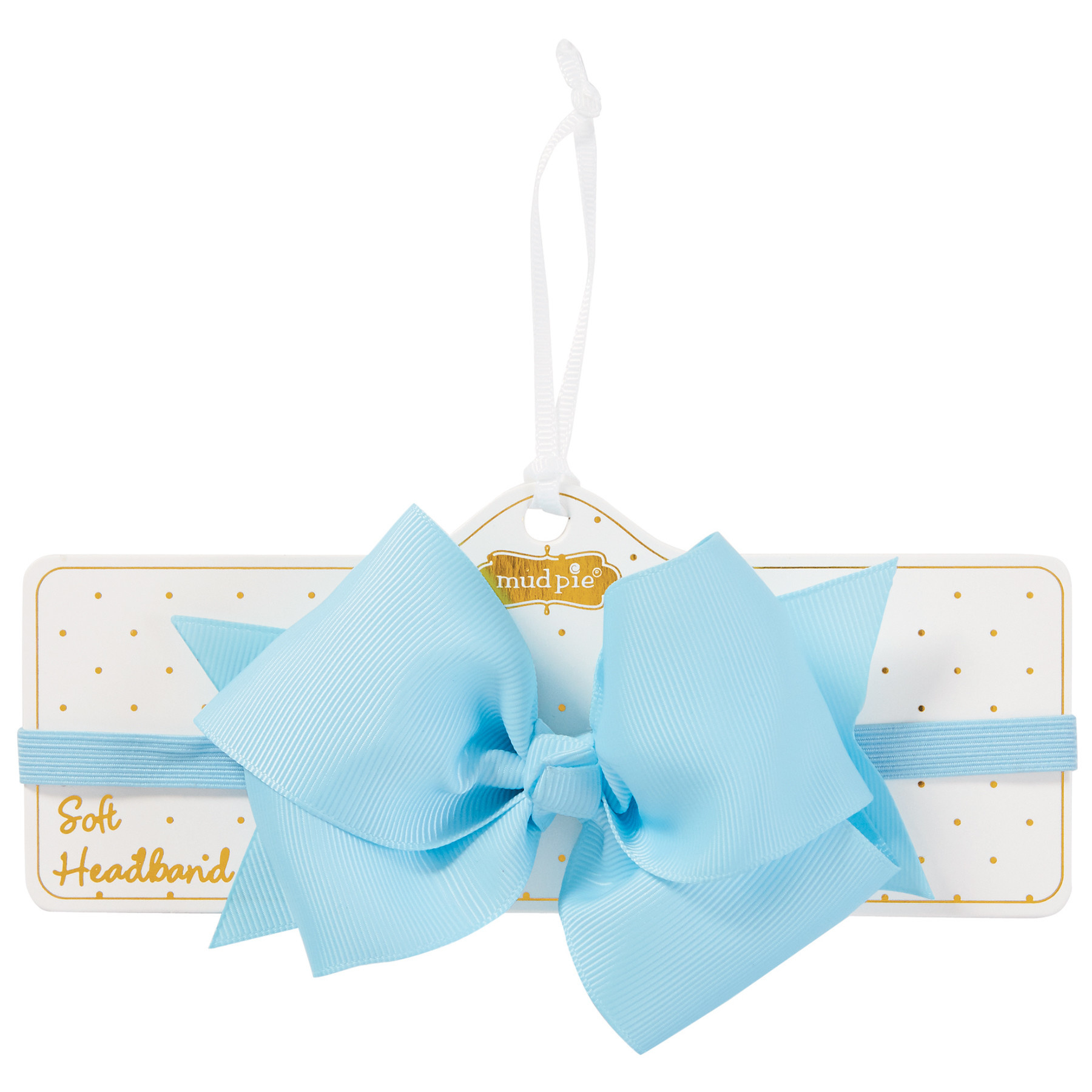 Mud Pie LIGHT BLUE BOW SOFT HEADBAND