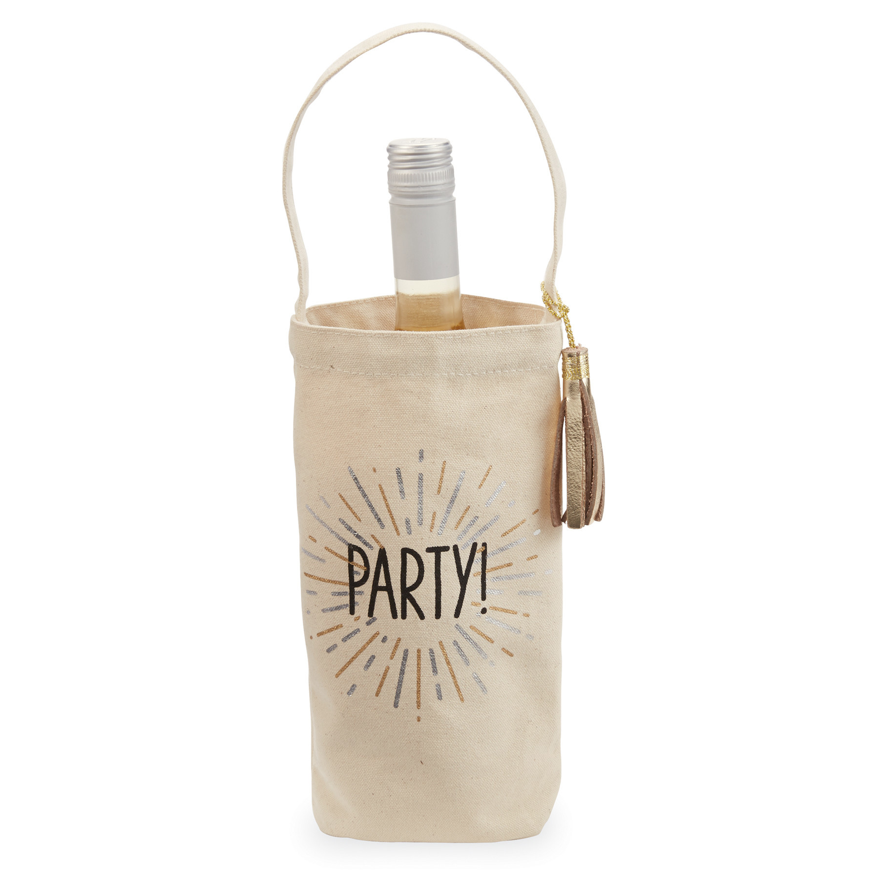 Mud Pie PARTY GOLD BOTTLE BAG