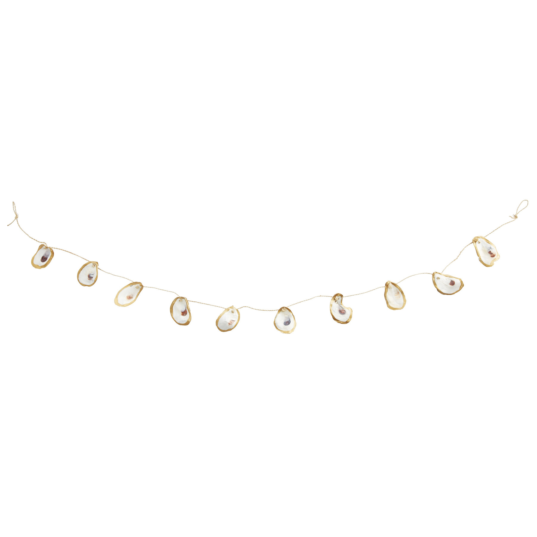 Mud Pie GOLD EDGE OYSTER GARLAND