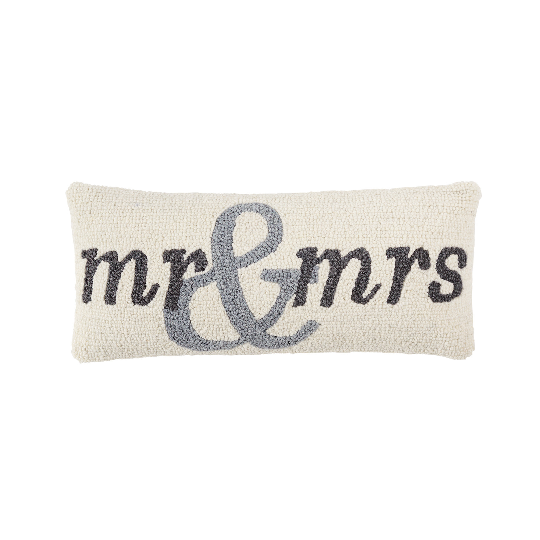 Mud Pie MR AND MRS HOOK PILLOW