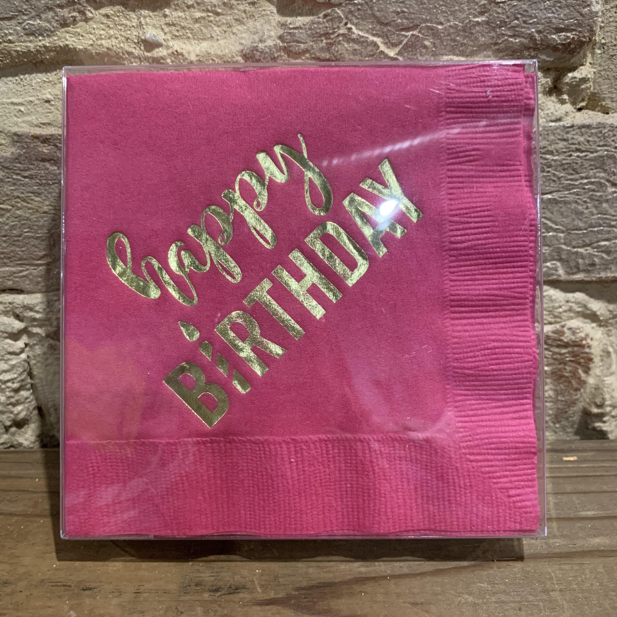 Ann Page Happy Birthday Cocktail Napkin