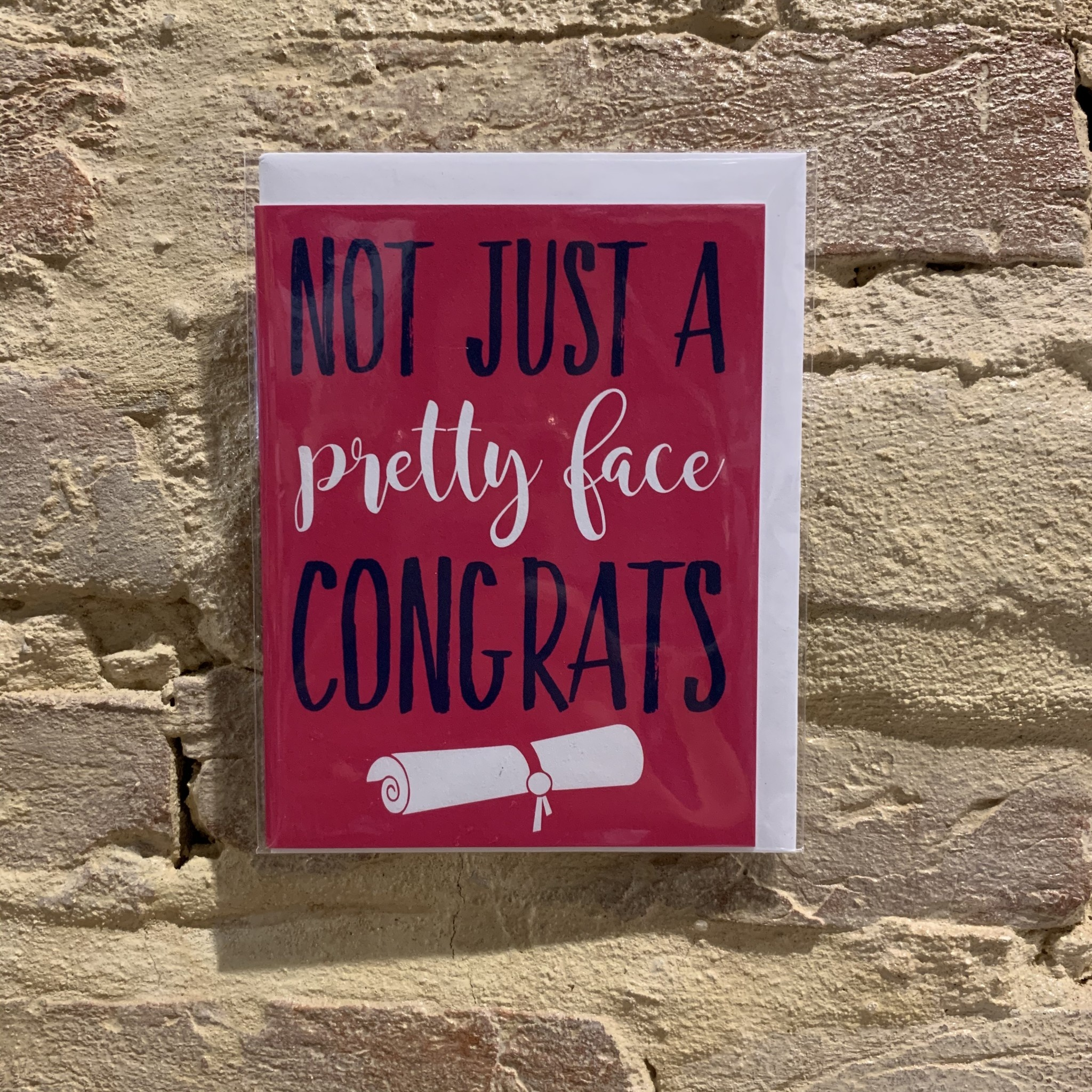 Ann Page Not Just a Pretty Face Graduation Card