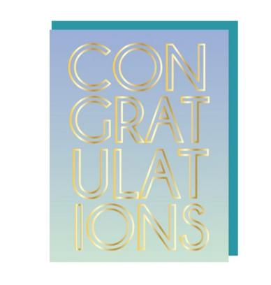Ann Page Congratulations Foil Card