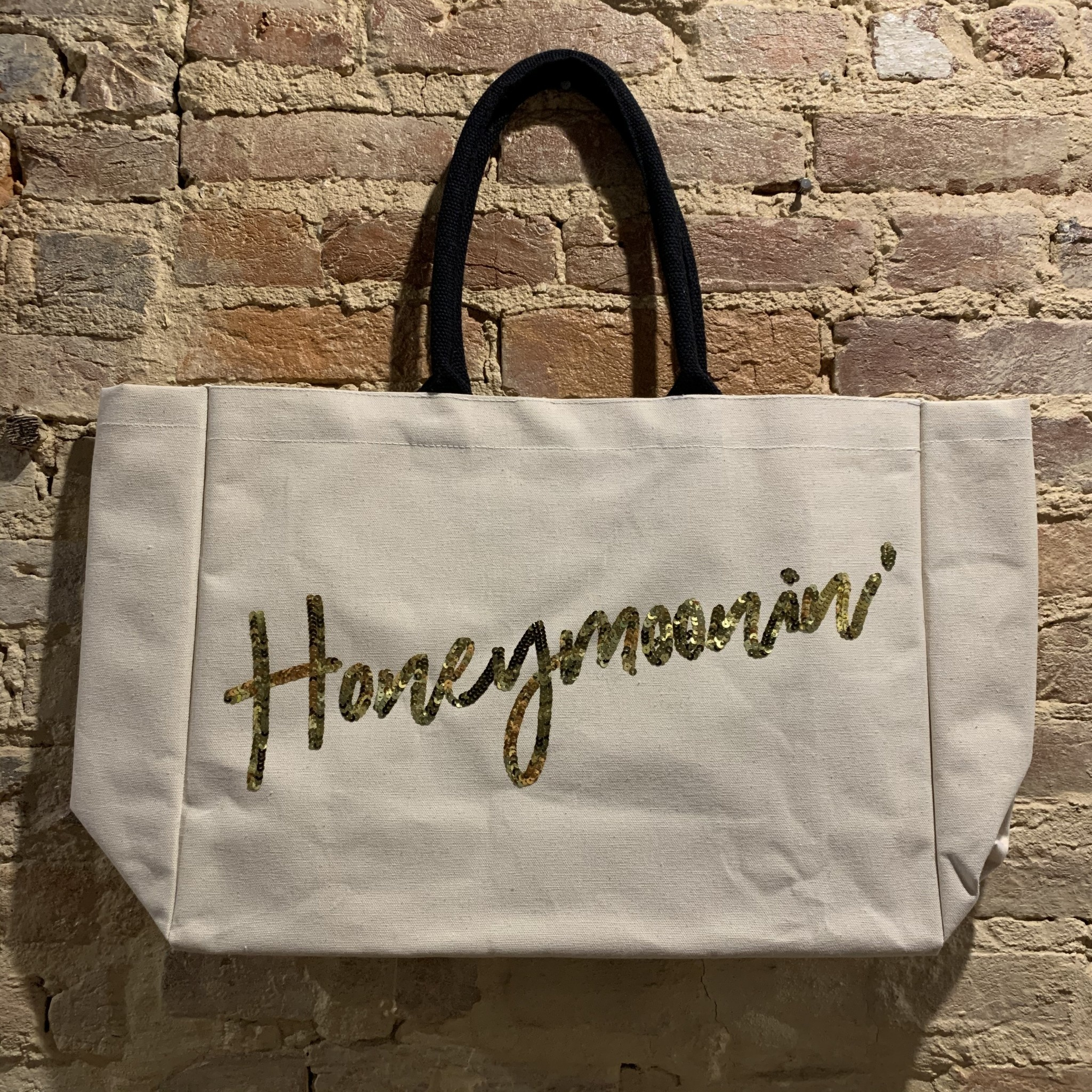 Two's Company Honeymoonin' Beach Tote w/ Sequin