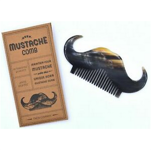 Two's Company Mustache Comb in Gift Envelope