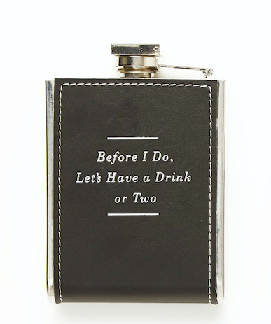 Two's Company Embossed Flask - Before I Do