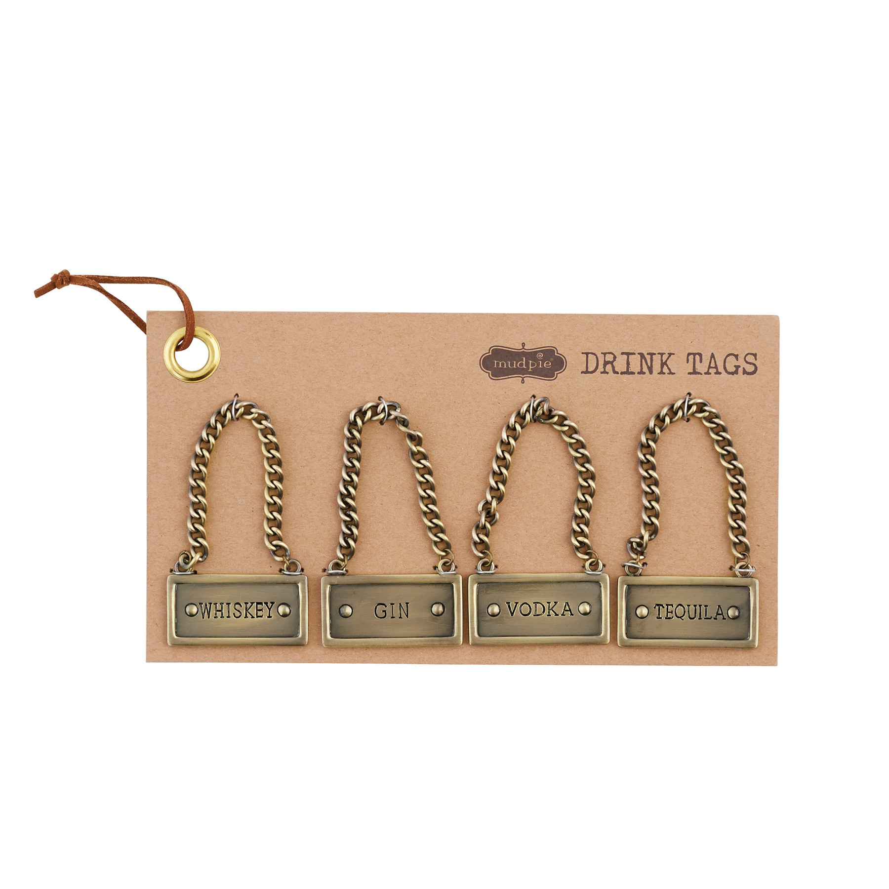 Mud Pie LIQUOR BOTTLE TAG SET