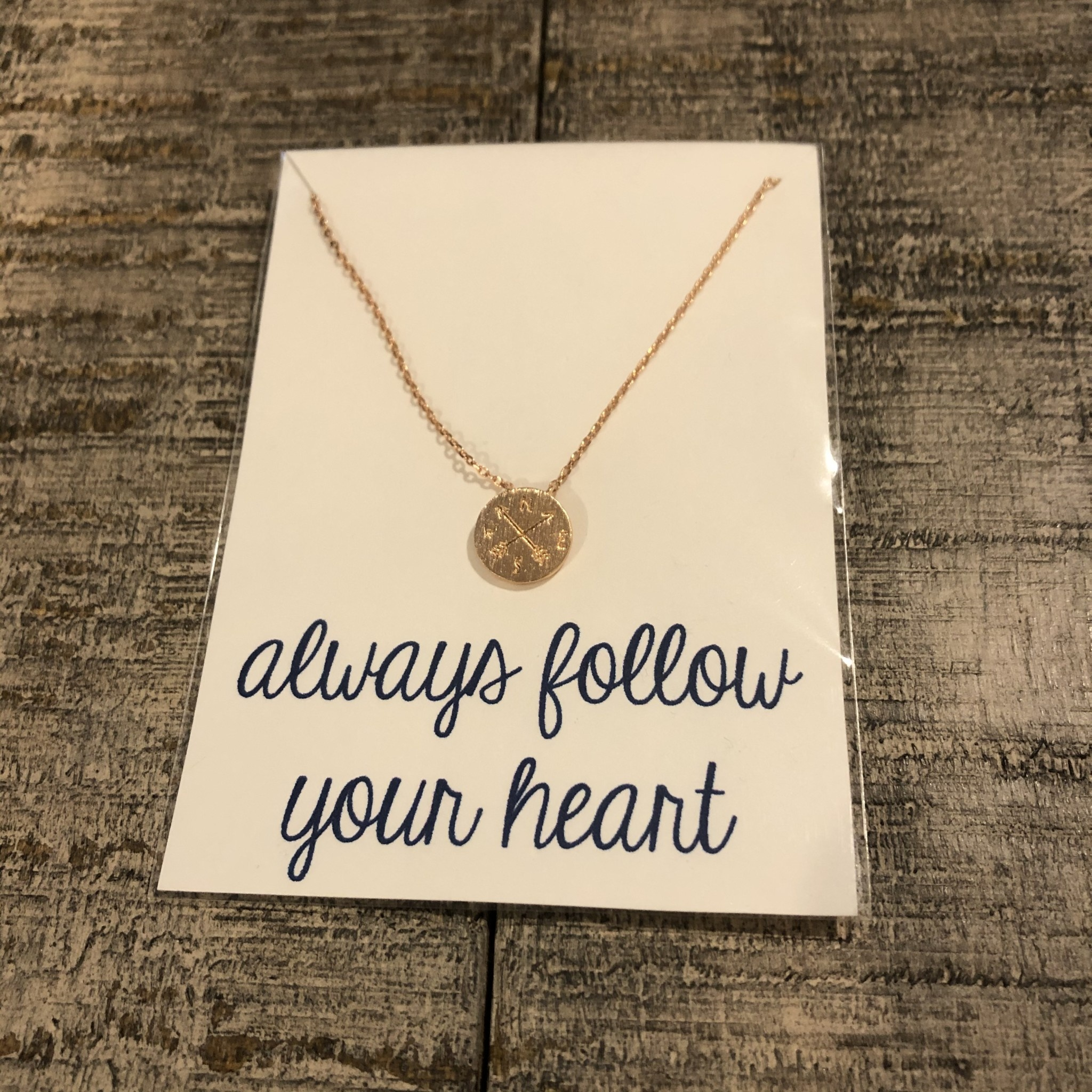Golden Stella Compass Charm Necklace Rose Gold