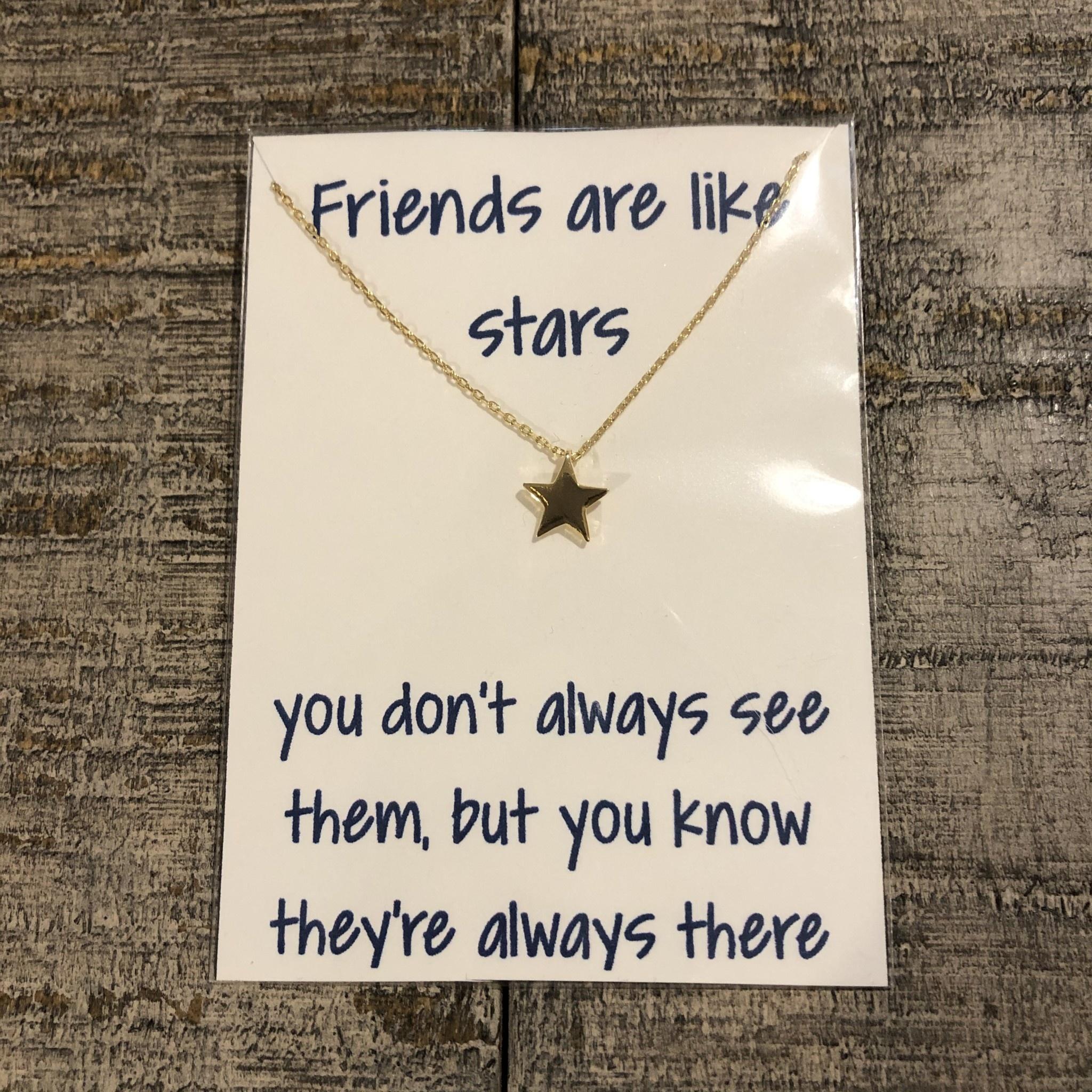 Golden Stella Star Necklace Gold