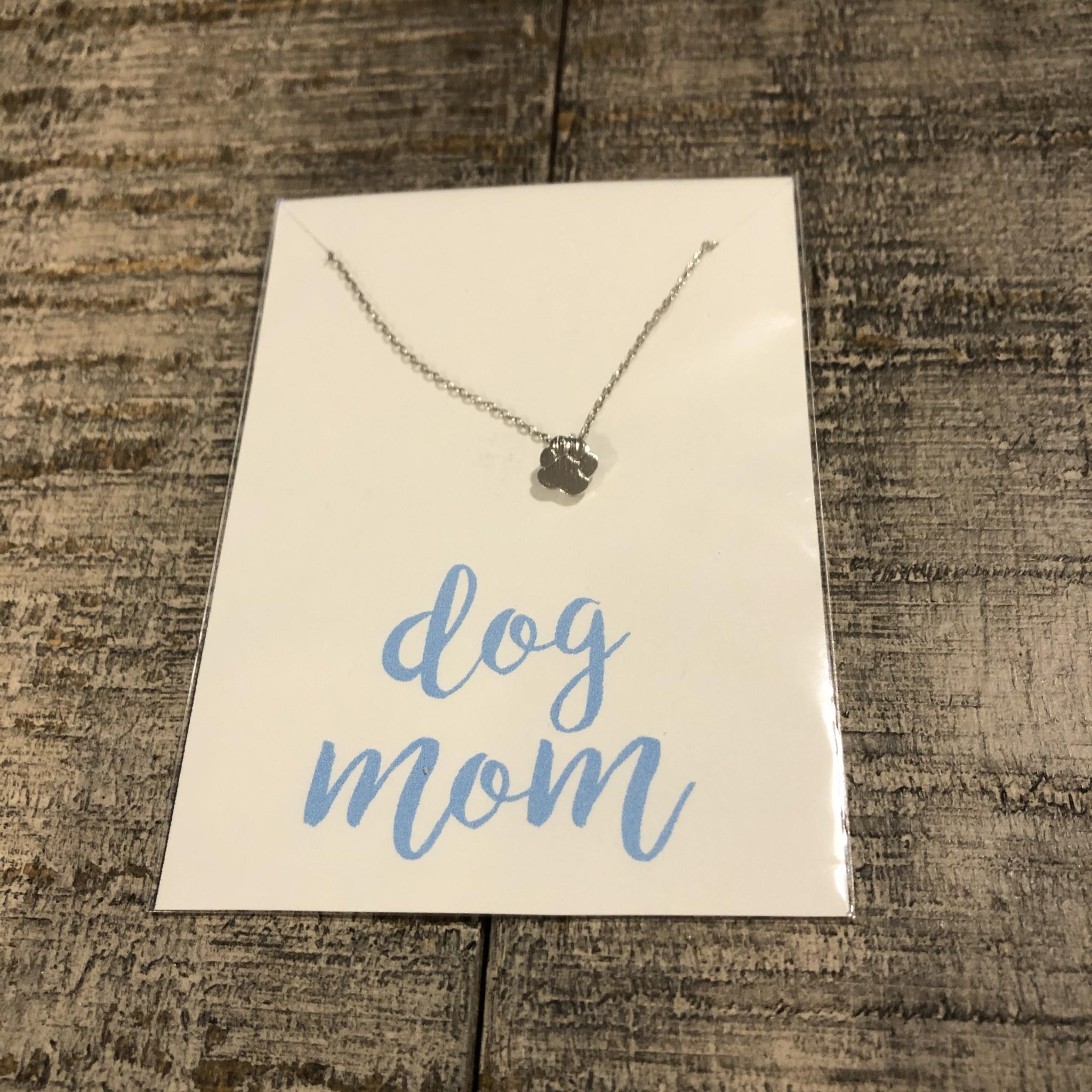 Golden Stella Charm Necklace Silver Pawprint