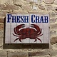 Designs by E.A.H. Fresh Catch Crab Sign