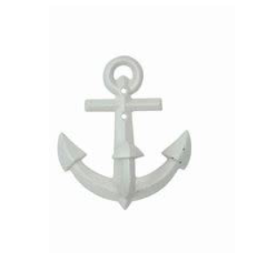 "Creative Co-op 6""H Metal Anchor Wall Hook - White"