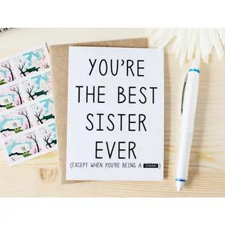 Honest AF Cards Best Sister Ever Card