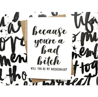 Honest AF Cards Will you Be my Bridesmaid? Card