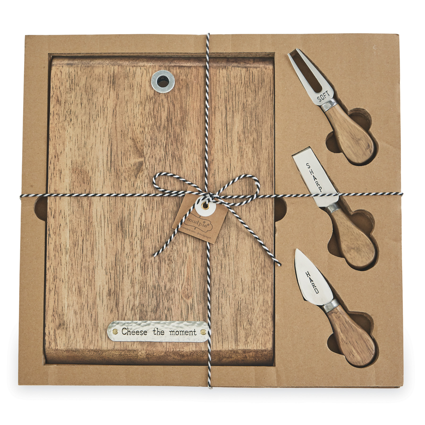 Mud Pie Cheese Board & Knife Set