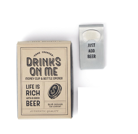 Two's Company Bottle Opener/Money Clip - Just Add Beer