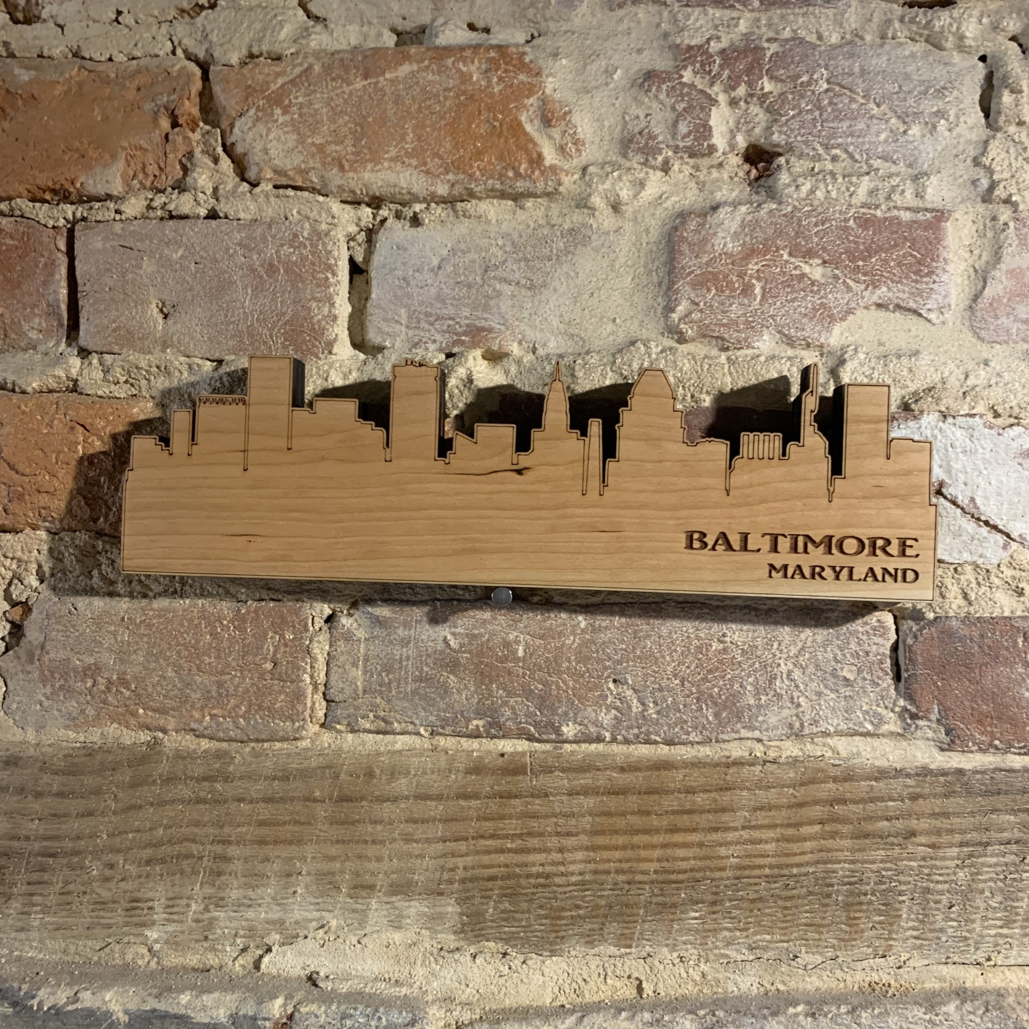 LeRoy Woodworks Baltimore Skyline Sign - Small