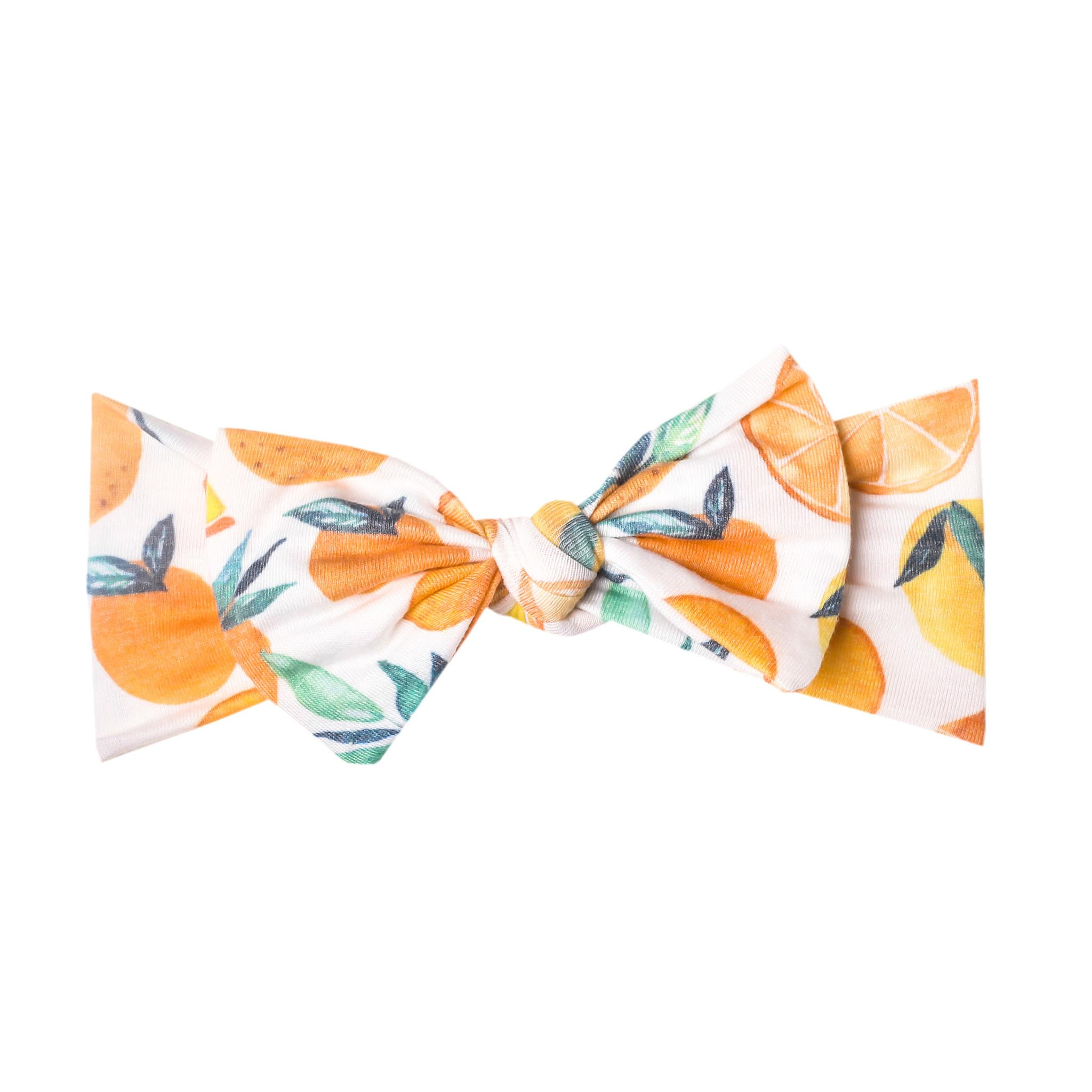 Copper Pearl Knit Headband Citrus