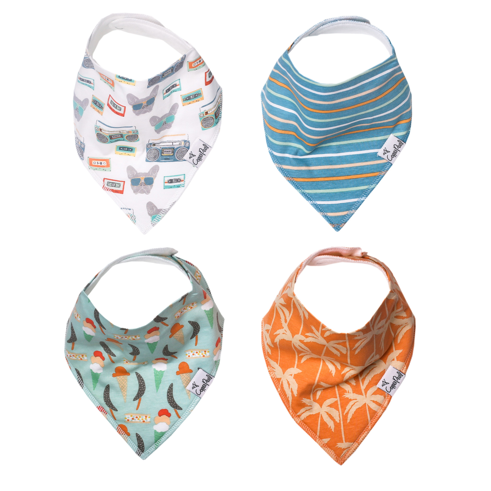 Copper Pearl Bandana Bib Set Bruno