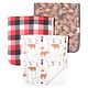 Copper Pearl Burp Cloth Set Lumberjack