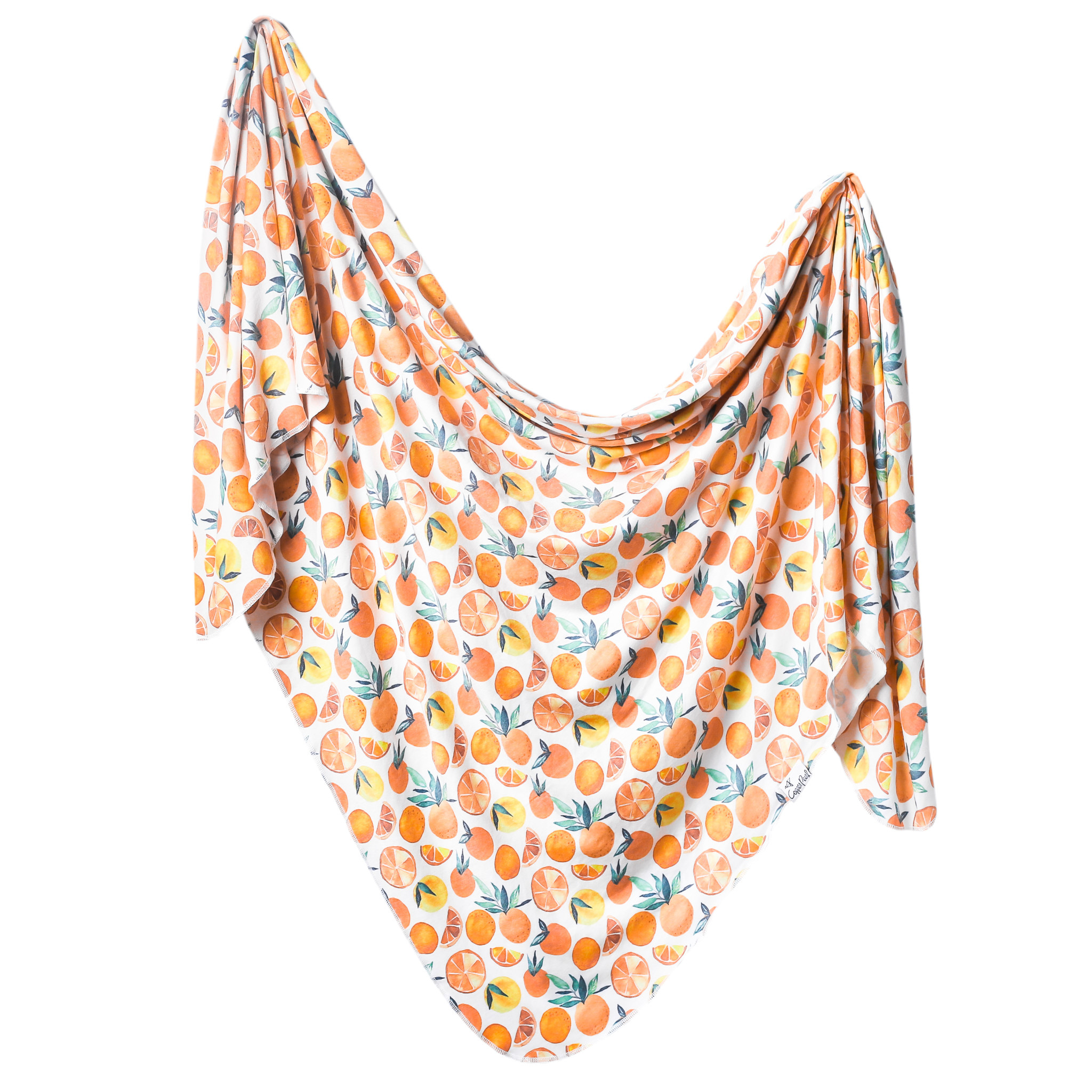 Copper Pearl Knit Swaddle Blanket Citrus
