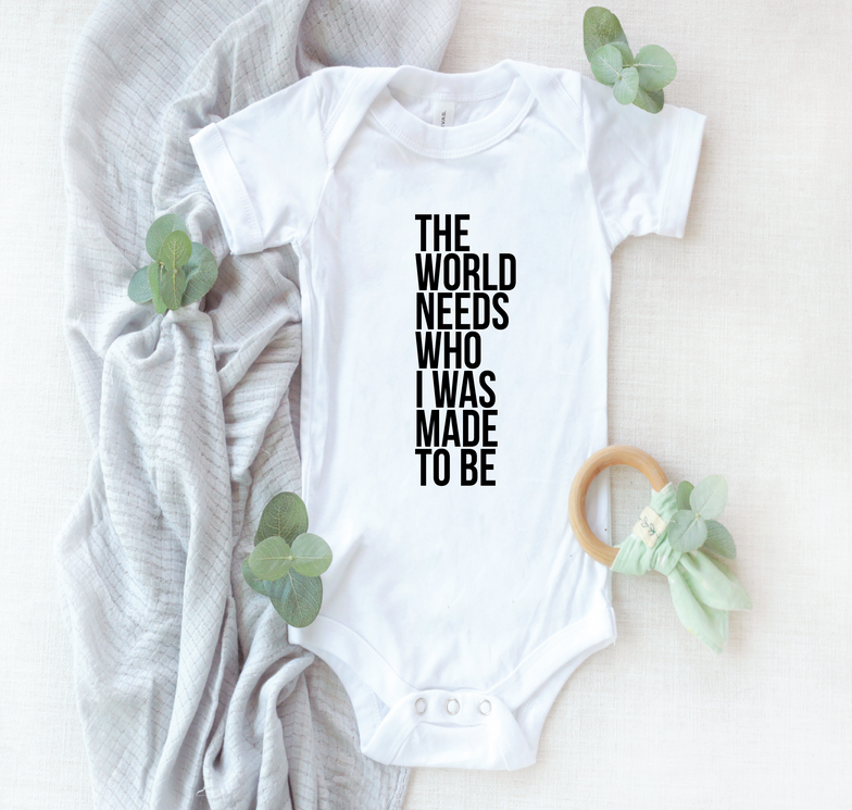 Saved By Grace Co. The World Needs Onesie
