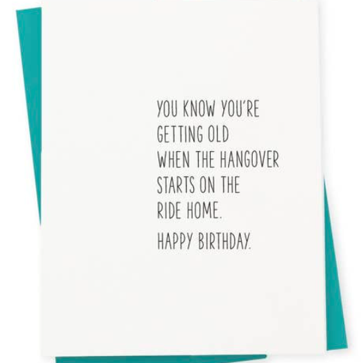 417 Press Hangover Birthday Card