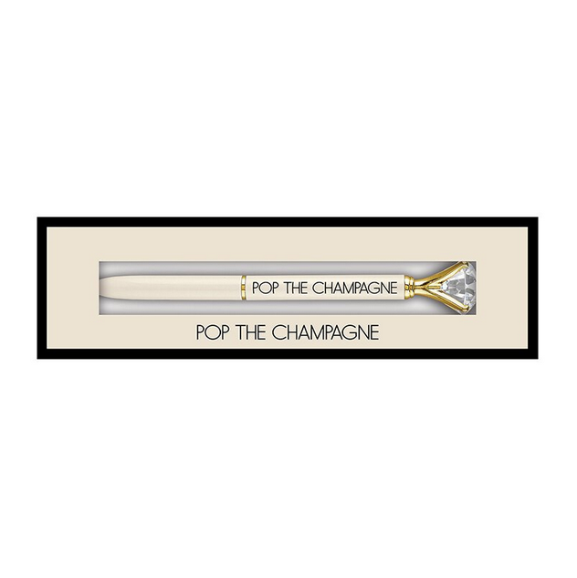 Creative Brands Boxed Gem Pen - Champagne
