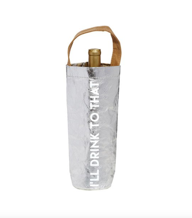 Creative Brands I'll Drink To That - Silver Wine Bag