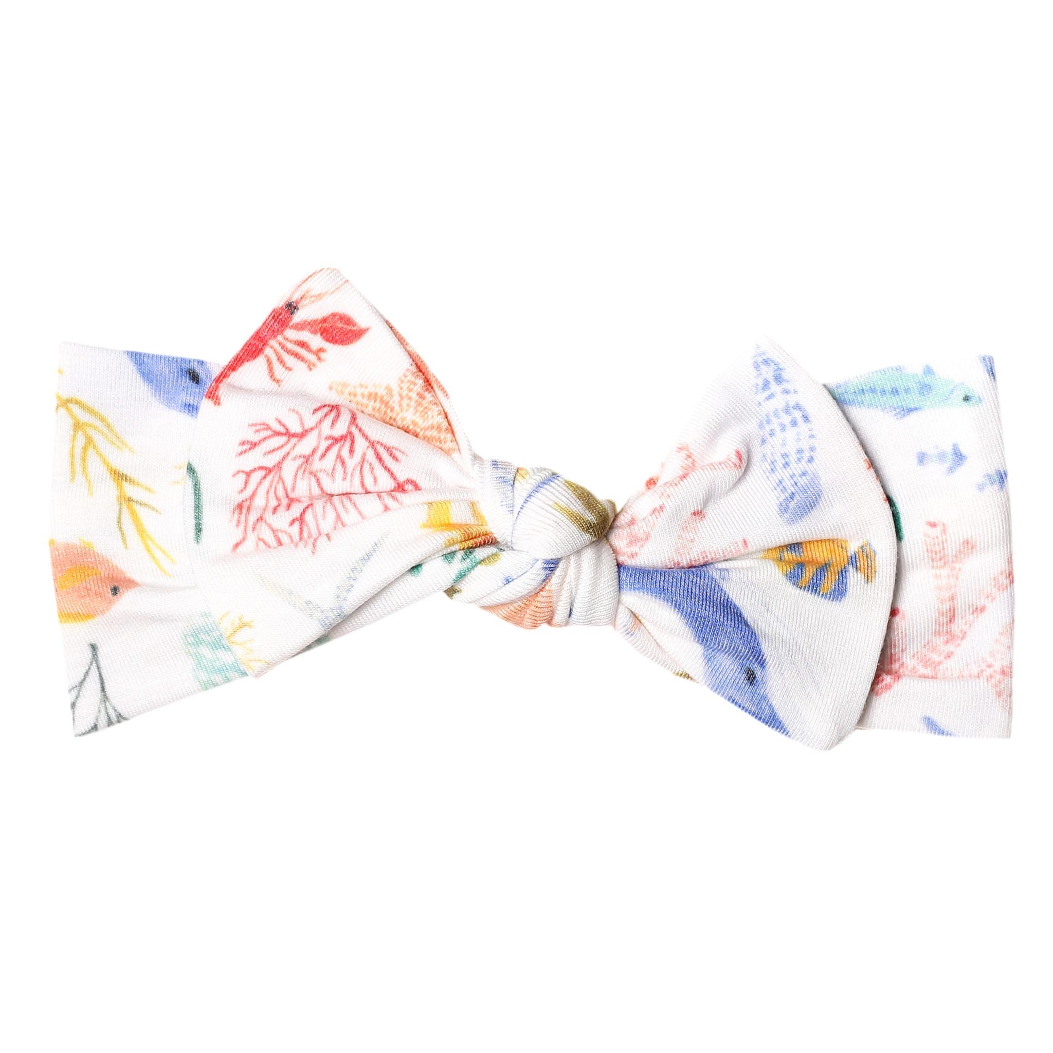 Copper Pearl Knit Headband Nautical