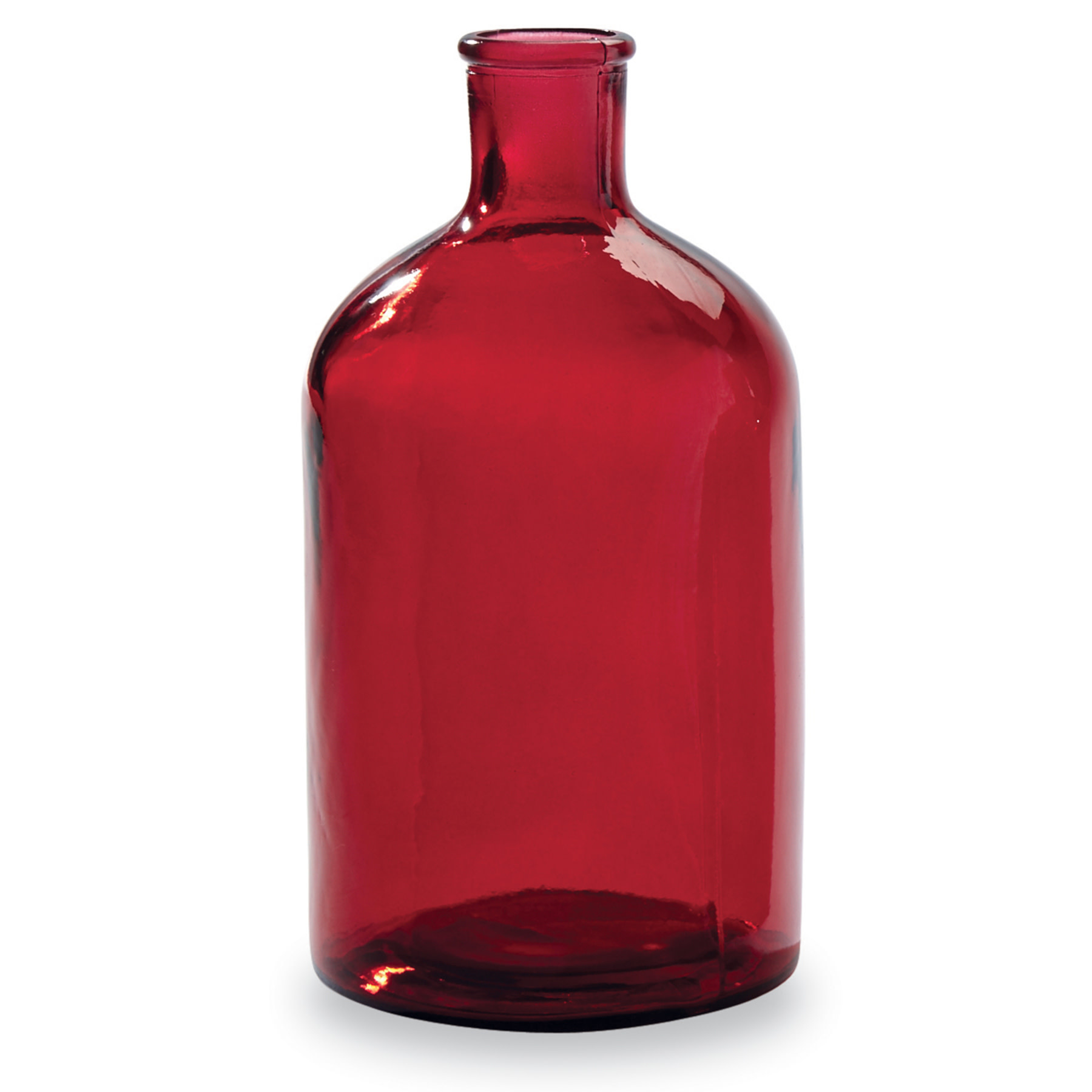 Mud Pie LARGE RED BOTTLENECK VASE