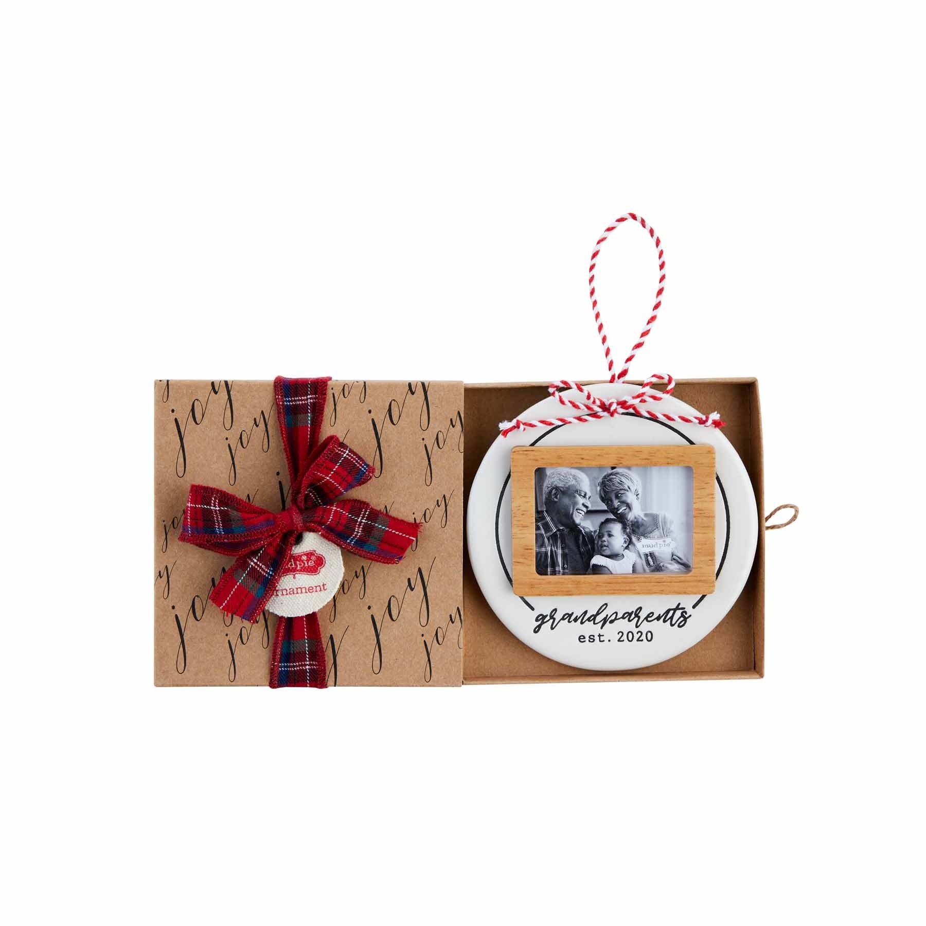 Mud Pie 2020 GRANDPARENTS PHOTO ORNAMENT