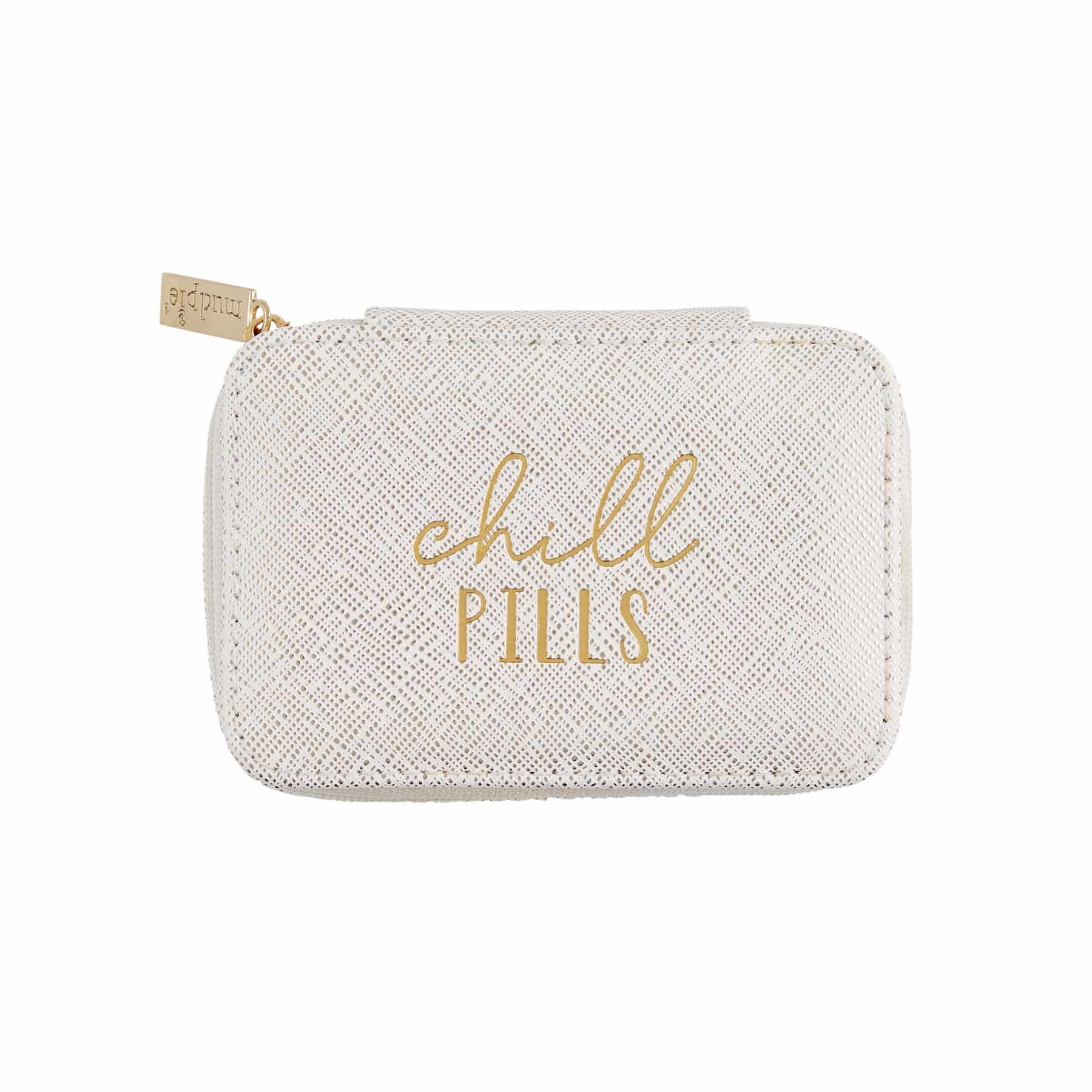 Mud Pie CHILL PILLS PILL BOX