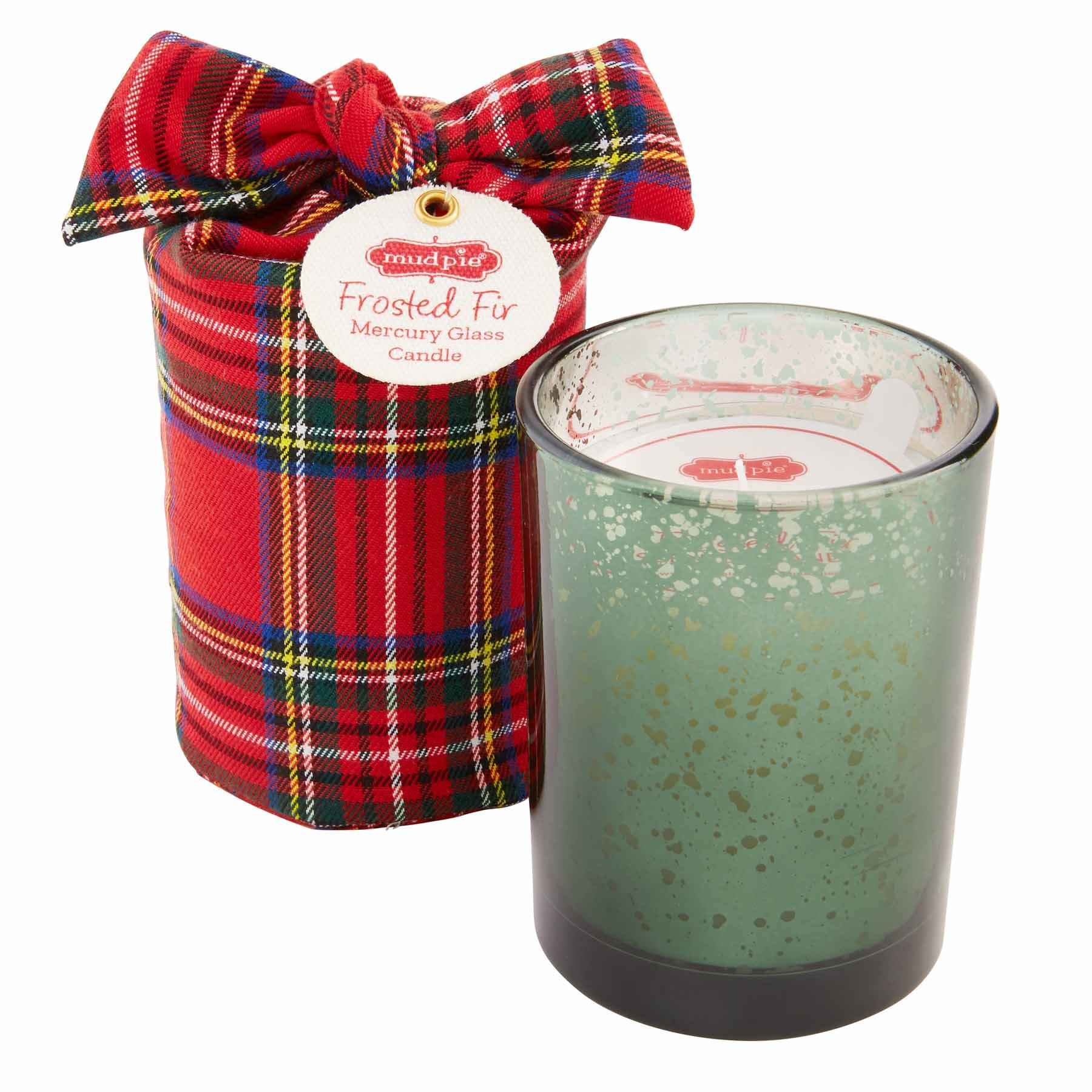 Mud Pie GREEN WRAPPED MERCURY CANDLE