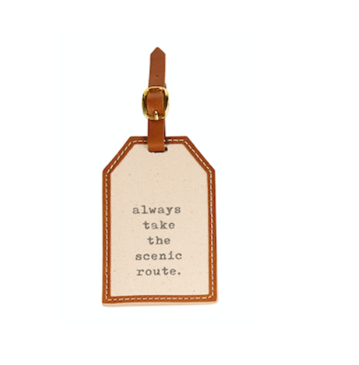 Mud Pie ALWAYS CANVAS LUGGAGE TAG