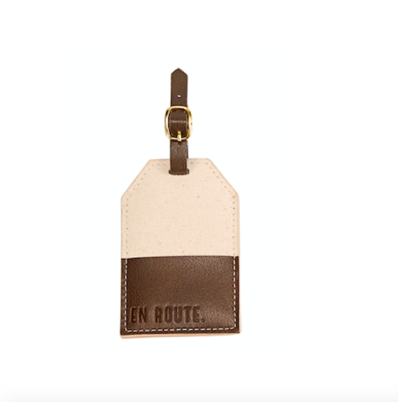 Mud Pie EN ROUTE CANVAS LUGGAGE TAG