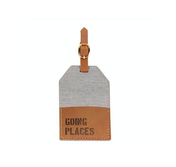 Mud Pie GOING CANVAS LUGGAGE TAG