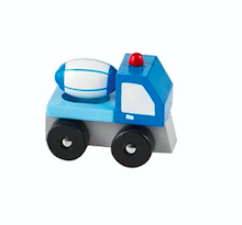 Mud Pie CEMENT TRUCK WOOD TOY