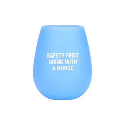 About Face Designs Nurse Silicone Wine Glass